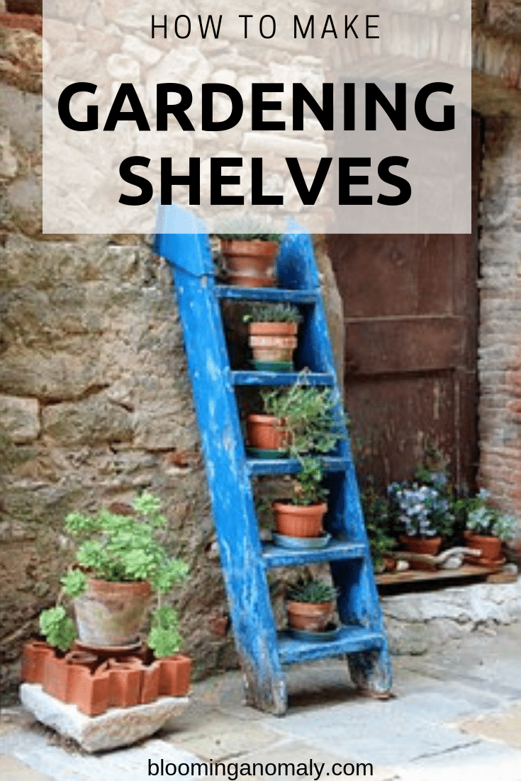 gardening shelves, how to make gardening shelves