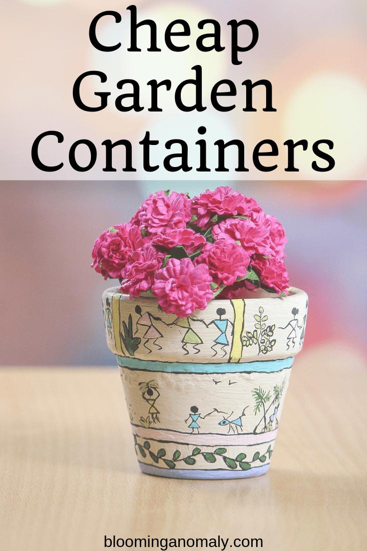 cheap garden containers, flower pot
