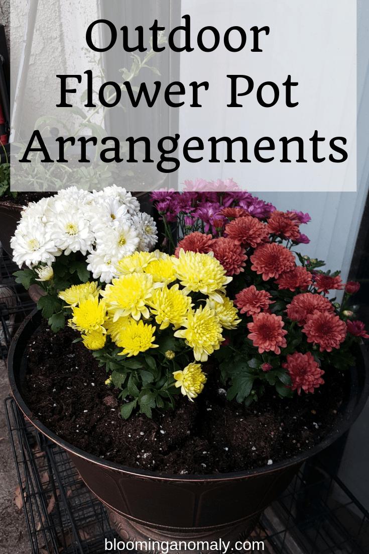 outdoor flower pot arrangements, flower pot arrangements