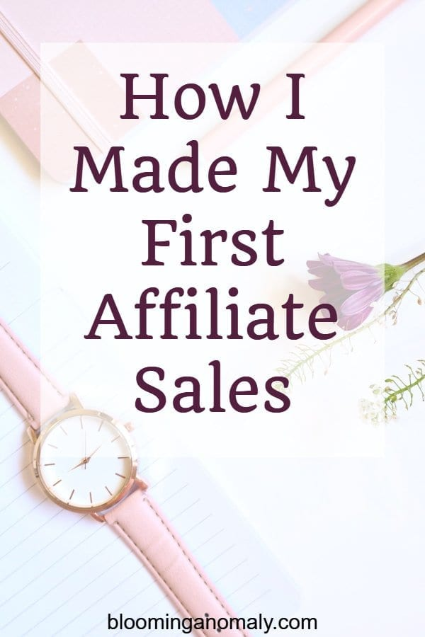 how i made my first affiliate sales, affiliate sales, bluehost, how to blog, blogging
