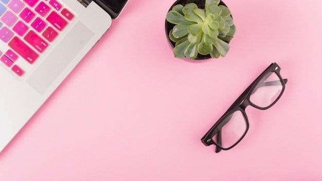 5 social media sites to utilize as a blogger, succulent, glasses, computer, pink