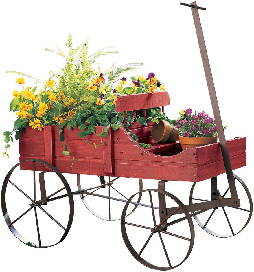 amish wagon planter